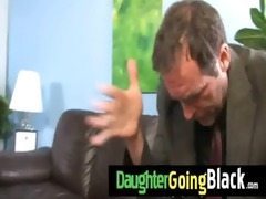 see how my daughter is drilled by a dark dude 91