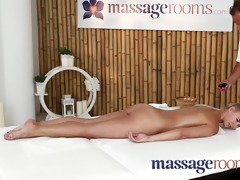 massage rooms young college gal cutie has