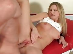 bitchy juvenile blond katy caro makes her hot