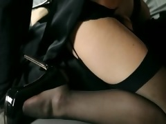 youthful gals in good petticoat engulfing sex tool