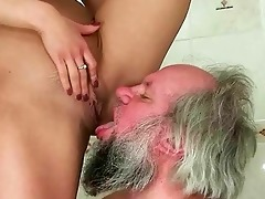 hotty punishing and fucking a old man