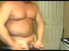 beefy large cock dad busts a sexy nut!