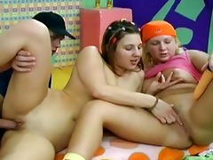 juvenile pigtailed hotties share biggest johnson