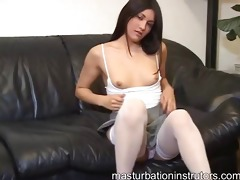 hawt youthful jerk off teacher flashes her