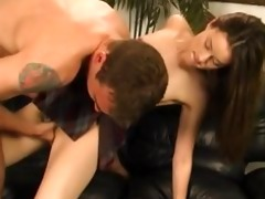 young jassie hardcore set on sofa - legal delicate