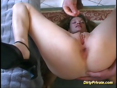 young cute french doxy in bizarre anal drilling