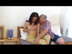 miniature tittted cutie gets fucked by grandad