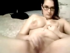 large tit youthful girl plays with billibongs