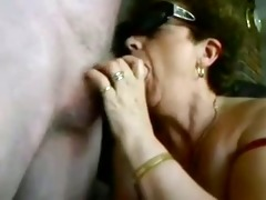 old lady acquires an blow job creampie
