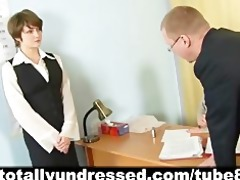 humiliating nude job interview for elegant