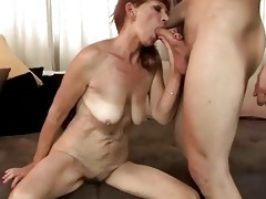 old redhead acquires drilled hard
