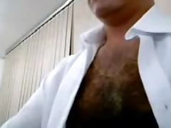 execitive jerks off on webcam at the office