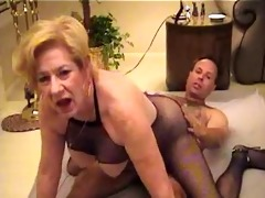 gilf in bodystocking bonks and sucks