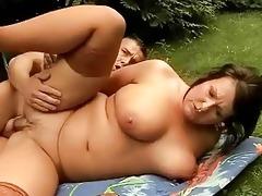 breasty bulky grandma has sex with juvenile stud
