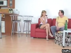 guy enjoys nice wine and cunt