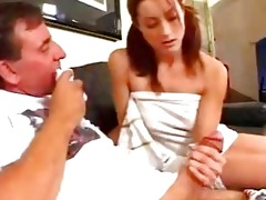 old fellow slamming redhead wench wet aperture
