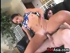 youthful oriental hotty toyed with and drilled