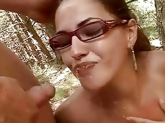 juvenile pair fucking and pissing outdoor