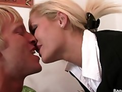 office wench takes angry pounding