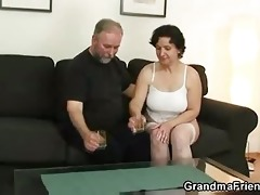 her old shaggy love tunnel is toyed and screwed