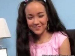 cute oriental daughter screwed by black chap