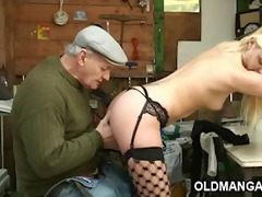 euro blond double-fucked