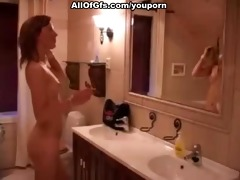 very sexy nude playgirl teasing in shower