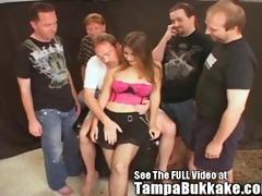 32year old sperm swallower bukkake party