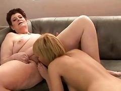 chubby grandma copulates youthful angel