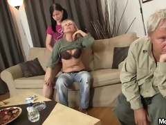 she is is involved into avid threesome fuckfest