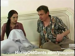 youthful cutie fucked by aged stud