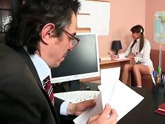 2some lesson with elderly teacher
