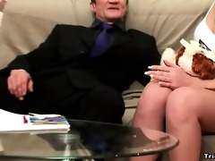 sexy black-haired youthful chick acquires licked