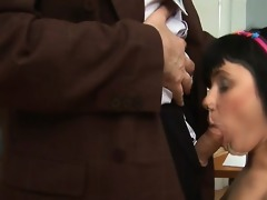 old slavemaster is taming cute babe