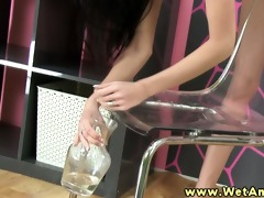 pee fetish juvenile beautie drinks her pee