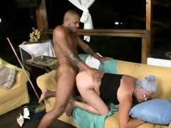 old doxy getting screwed by a giant cock!