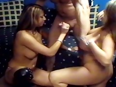 two sexy youthful hotties shares large hard