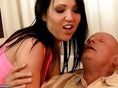 lascivious old man enjoys sex with sexy legal age