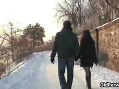 winter fuck on the snow