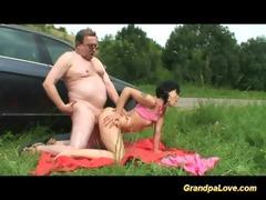 grandpa giving knob to playgirl