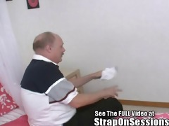 old foot freak gets pegged!