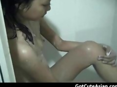 cute youthful oriental showers to be impure part1