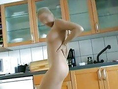 youthful acrobatic playgirl receives her n...