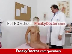astounding golden-haired uma zex harassed by old