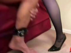 juvenile dominatrix in charge of old serf
