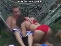 outstanding sex act in hammock