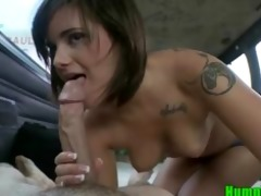 gorgeous young dark brown sucks and bonks on the