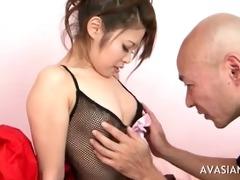 aged chap seduces juvenile oriental schoolgirl