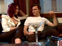 sexy redhead maitresse madeline dominates