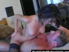 surprise double penetration for youthful doxy